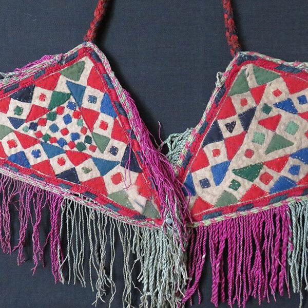 Turkmenistan – Yomud tribal pair of felt pot holders