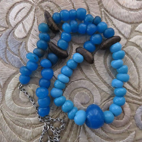 Anatolian – Smyrna blue bead talisman necklace