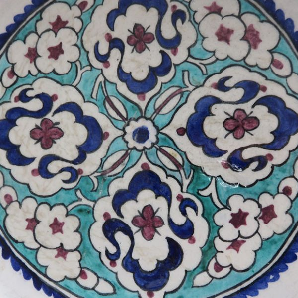 Anatolian – Kutahya antique glazed ceramic plate