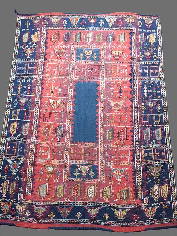 Azerbaijan - Caucasian – Verneh sumak tribal kilim
