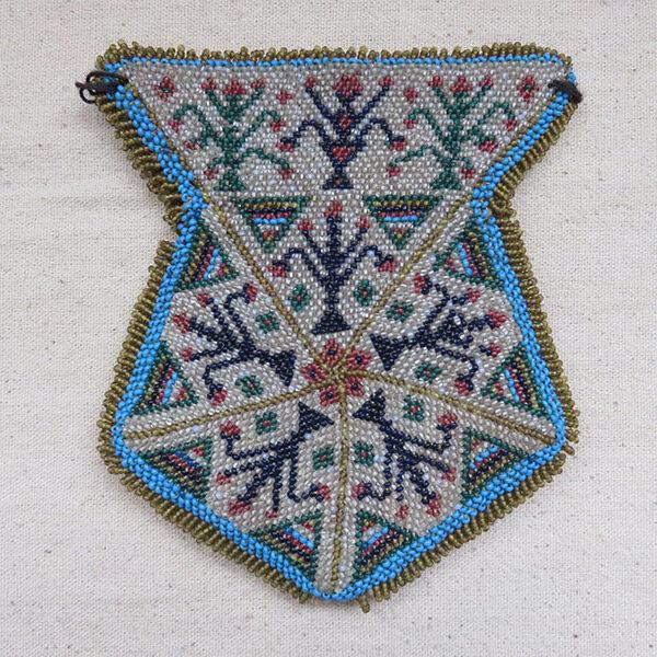 TURKEY BERGAMA (Western Turkey), glass bead embroidered antique pouch