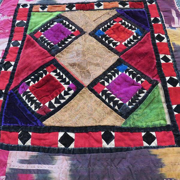 Uzbekistan - Surkhandarya - talismanic tribal mirror cover