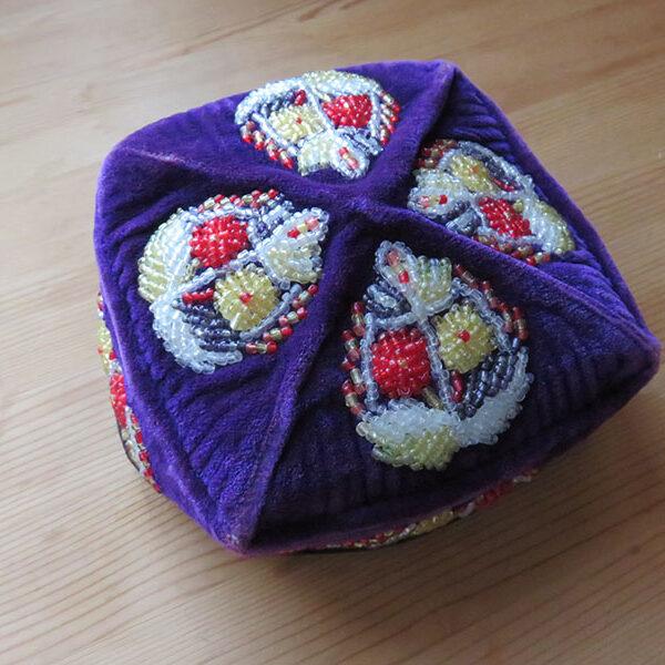 Uzbekistan – Tashkent, ethnic glass beaded hat