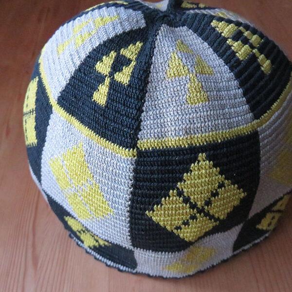 Iran – Khorasan Kurdish vintage hand knitted silk skullcap