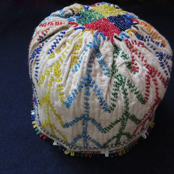 Anatolia – Kutahya, glass beaded child hat
