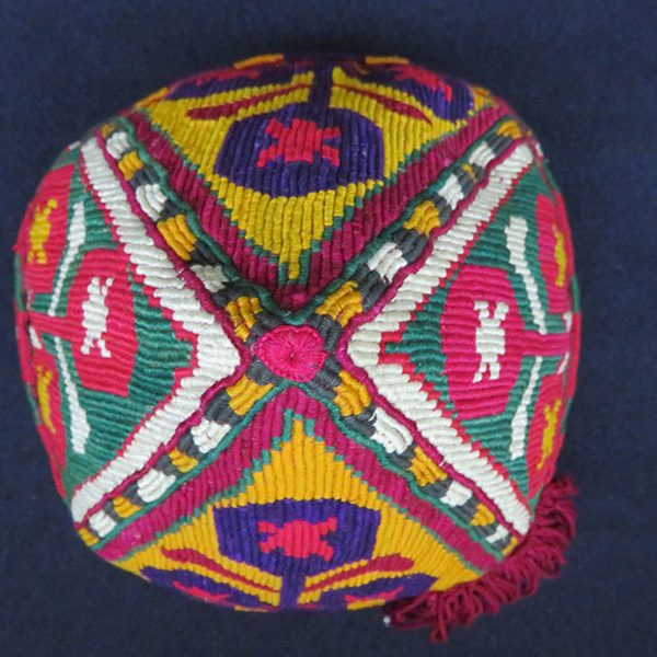 Afghanistan - Aimaq tribal silk embroidered hat