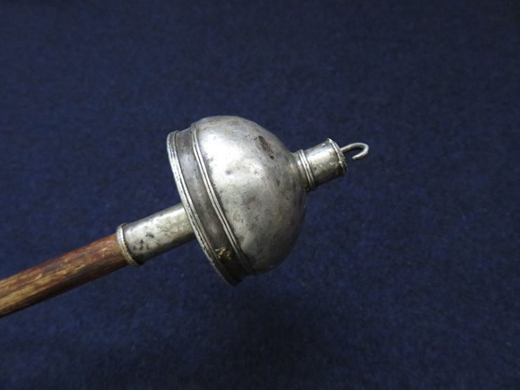 Turkmen ERSARY silver top handmade drop spindle