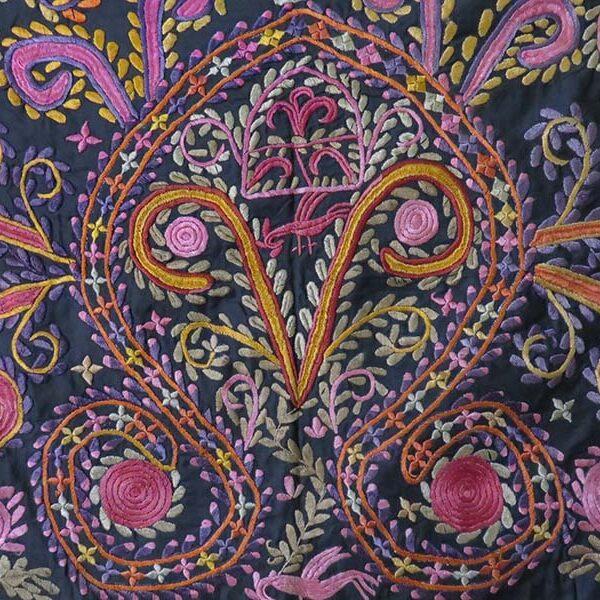 Afghanistan – Hazara tribal silk embroidery