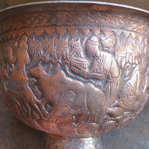 Persian - copper-bronze bowl