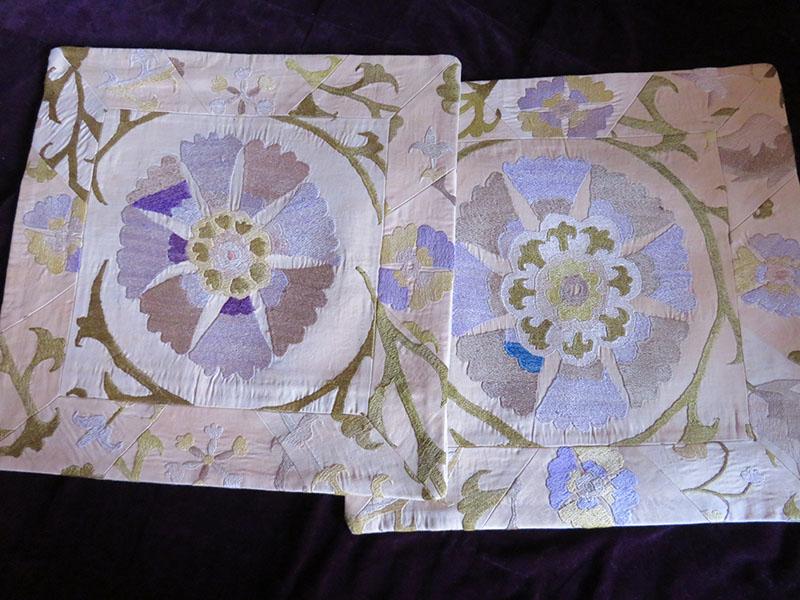 Tajikistan – old suzani pair of pillow covers