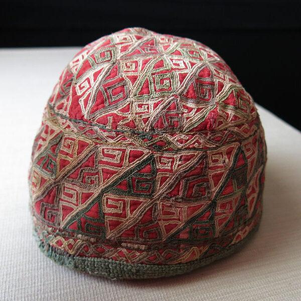 Turkmen Chodor silk embroidery ethnic hat