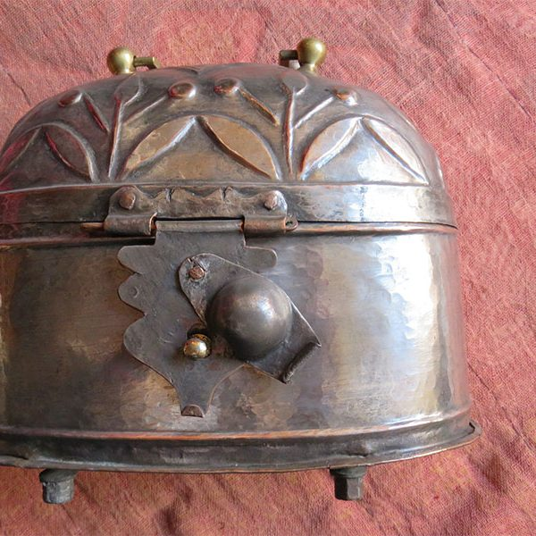East Anatolia , antique tinned copper Turkish Hammam box