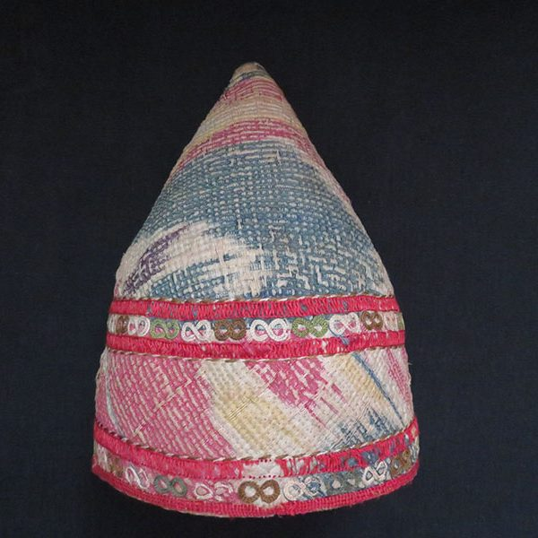 Turkmen Chodor tribal quilted Ikat hat