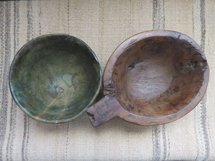 Anatolian – Turkmen nomadic hand carved wooden bowls