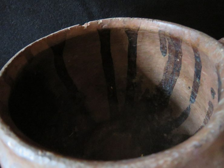 EAST ANATOLIA - Erzurum clay handmade, fired and natural glazed ( Hand patina ) pot