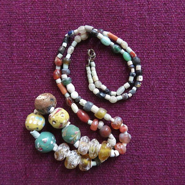 Afghanistan Indus valley antique glass bead necklace