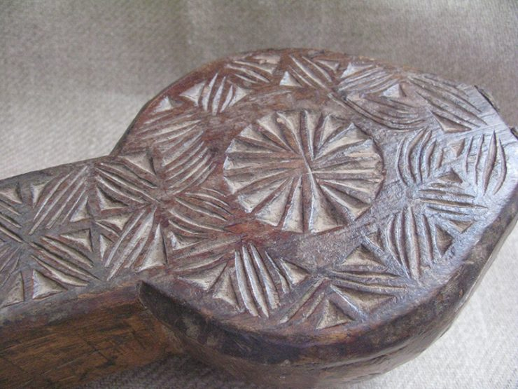 Turkmenistan – Yomud tribal wooden soup bowl carrier