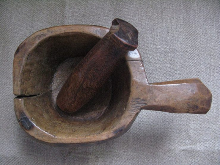 Anatolian – Black Sea wooden hand carved mortar and pestle