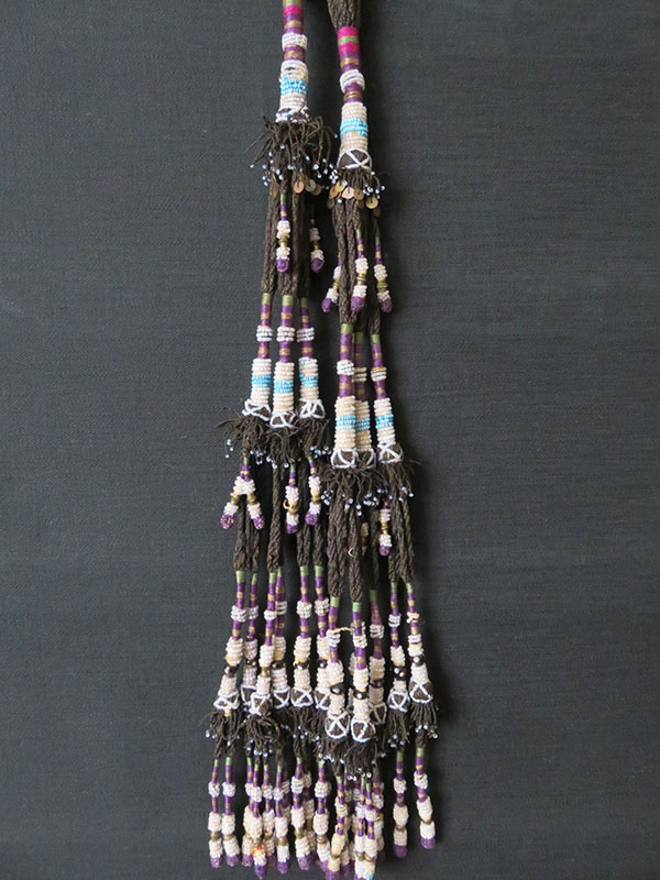 Uzbekistan – Surkandarya tribal glass beaded hair tassels