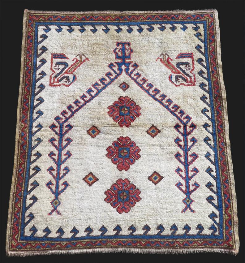 Jerusalem Prayer Rug: Anatolia - Konya Karapinar Prayer Rug