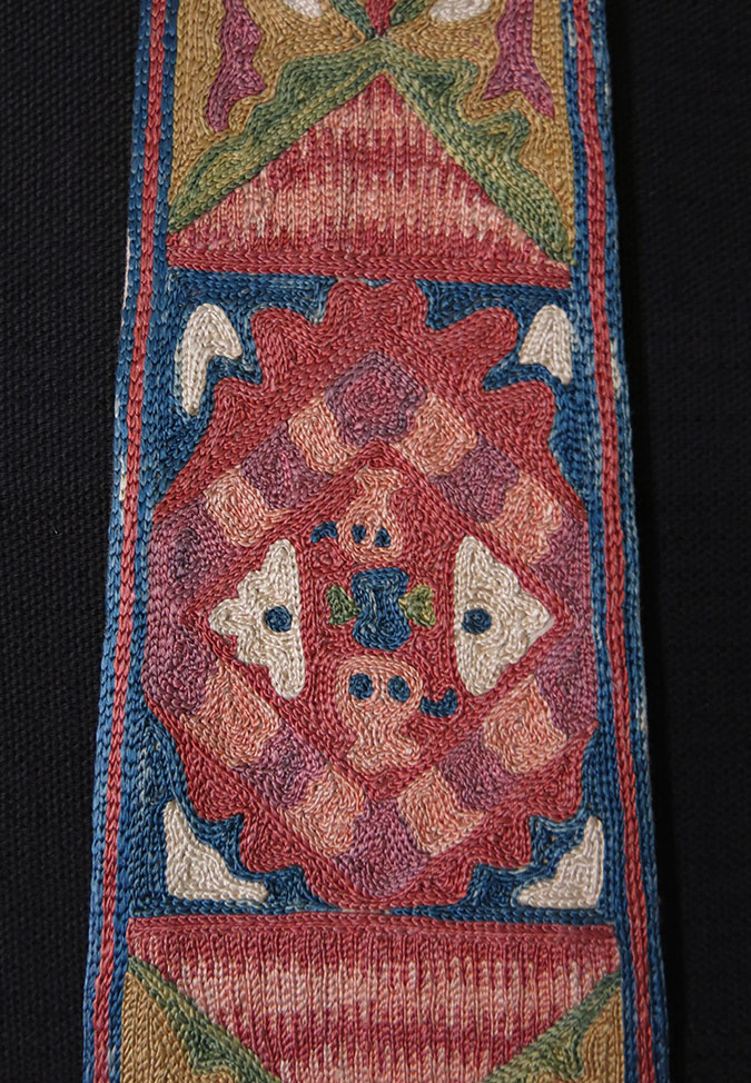 Uzbekistan Lakai ethnic silk embroidery pigtail