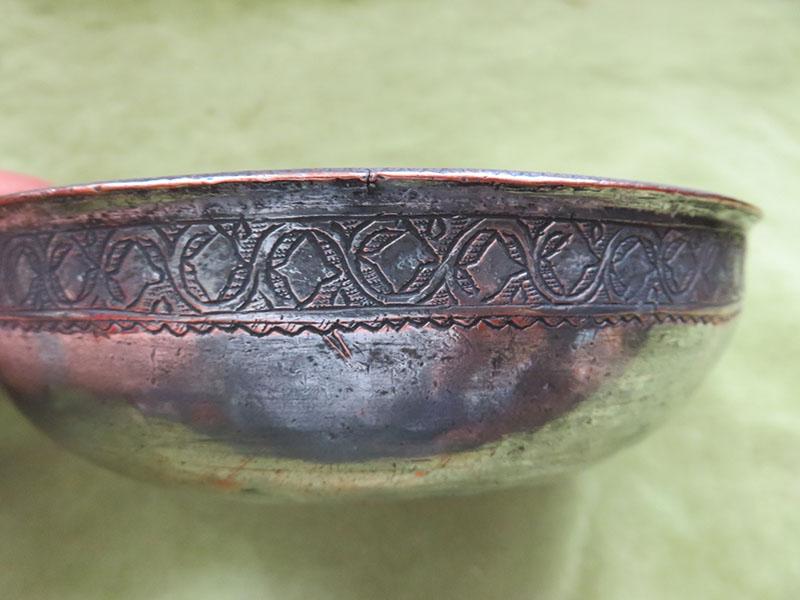 qajar tincoated copper bowl
