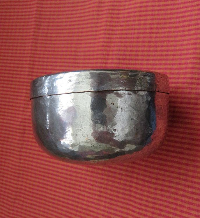 Persian Qajar handmade copper dervish bowl