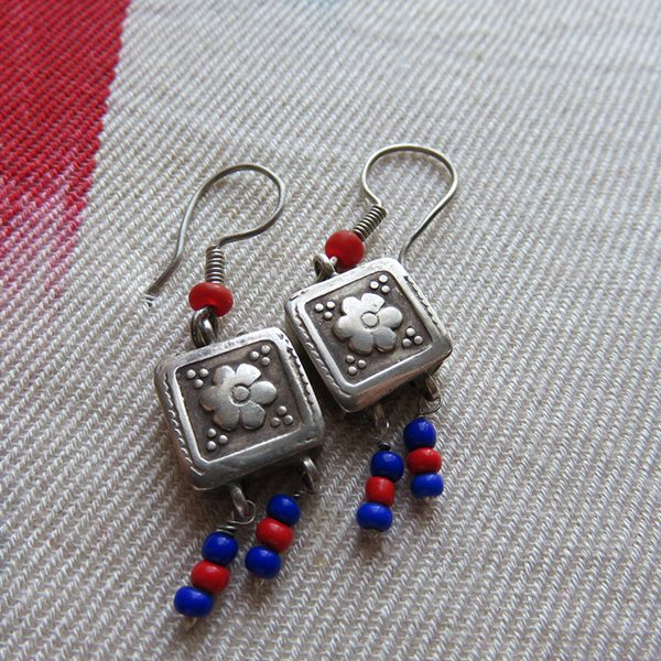 Afghanistan – Kuchi tribal antique silver earrings