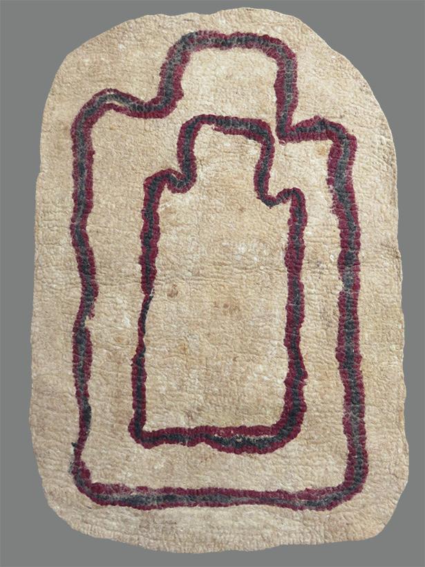 Turkmenistan felt prayer mat