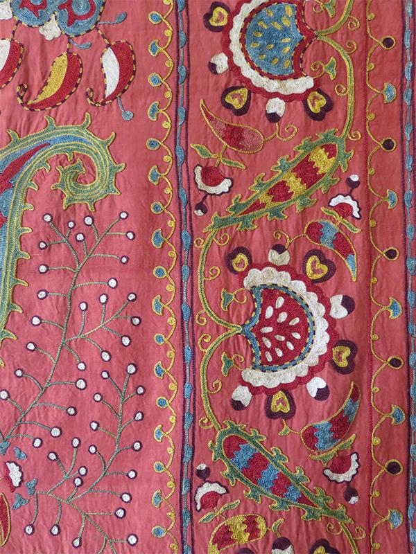 Uzbekistan Bokhara Lakai ethnic silk suzani