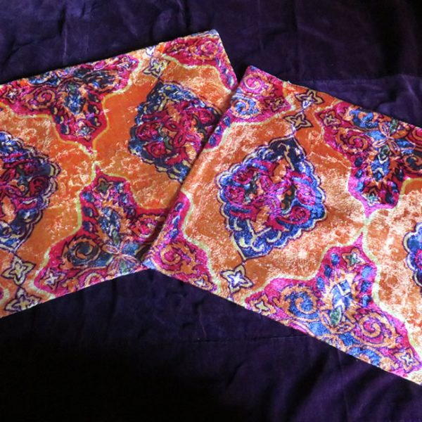 Uzbekistan Surkandarya – Pair of velvet pillow cases