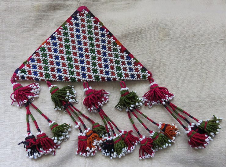 North Afghanistan – Pashtun tribal beaded talisman hanging