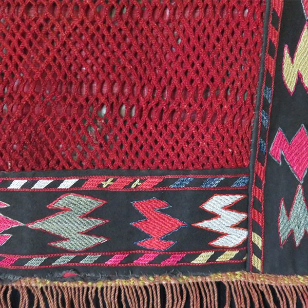 Afghanistan Lakai tribal embroidery mirror cover - wall hanging