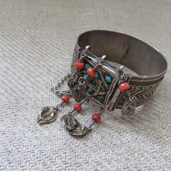 Uzbekistan - Khorezm Khiva antique silver bracelet