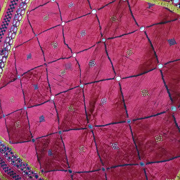 India - Gujarat floss silk embroidery Chalka, ethnic wall hanging