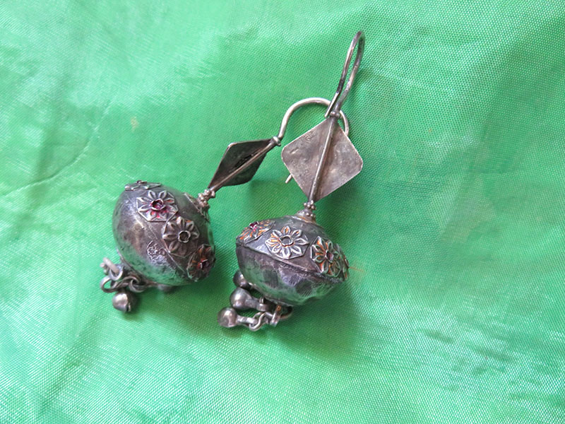 product silver img central antique asian earrings turkishfolkart kazak