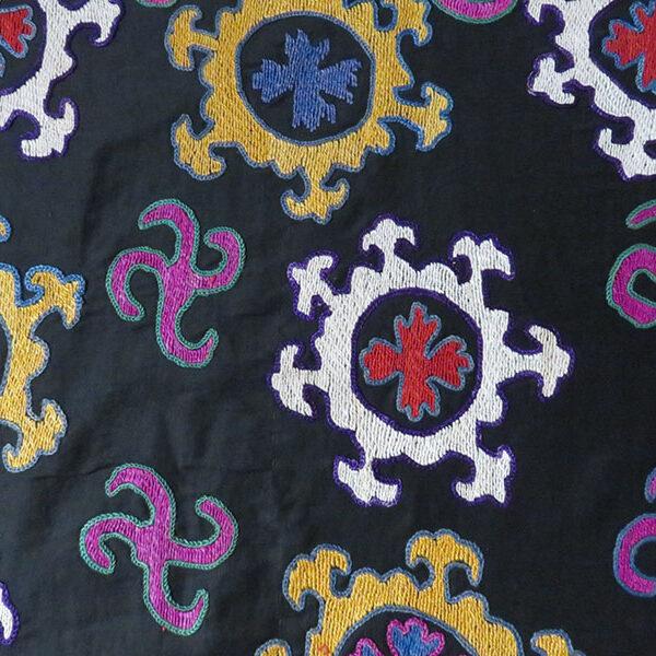 Uzbekistan Surkhandarya tribal silk Suzani embroidery