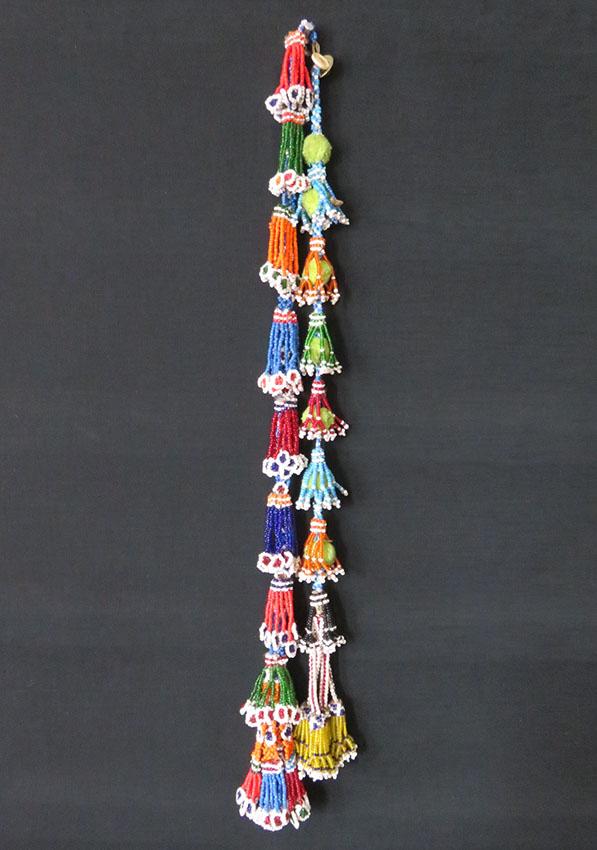 Afghanistan Kuchi tribal glass bead hair tassels