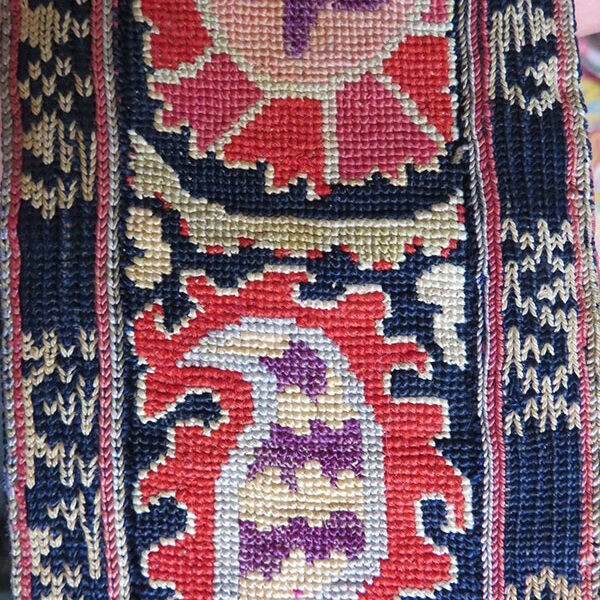 Uzbekistan – Bokhara, Lakai silk embroidered woman's belt