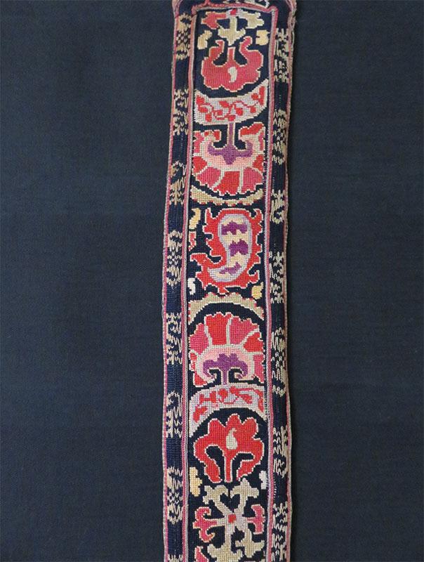 Uzbekistan – Bokhara, Lakai silk embroidered woman's belt