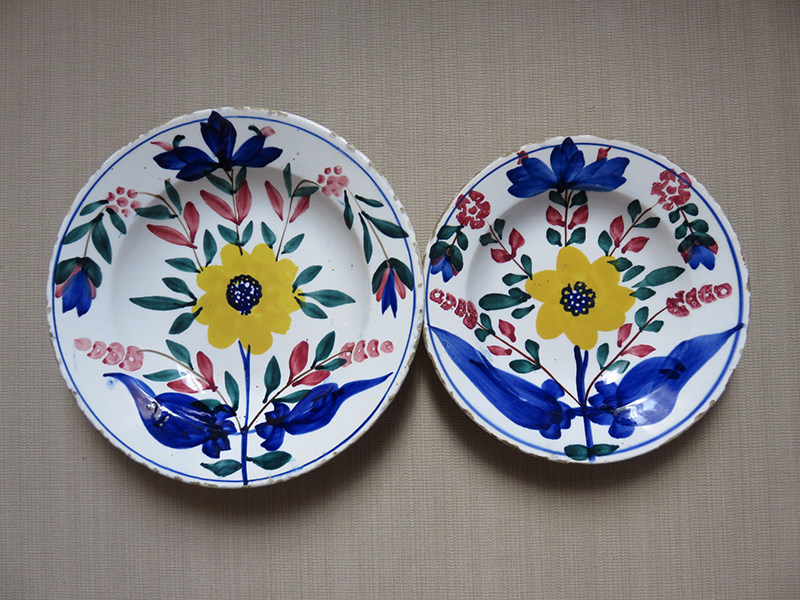 Ottoman antique ceramic plates with floral design & Ottoman antique ceramic plates with floral design | TurkishFolkArt
