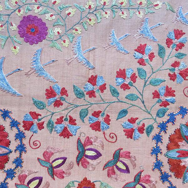 Uzbekistan Bokhara Norata ethnic silk Suzani