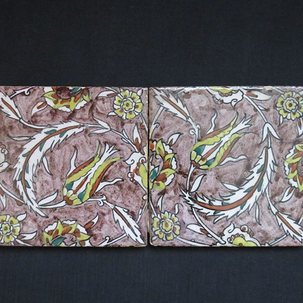 Anatolia - Kutahya pair of square wall tiles