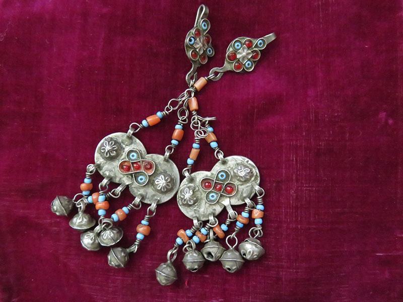 Afghanistan Pashtun Silver Ethnic Earrings