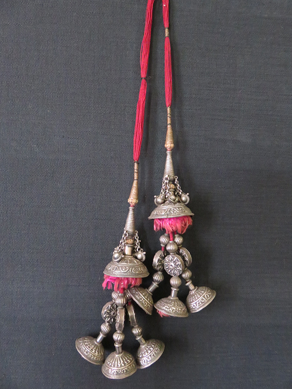 South Asia - Nepal ethnic ceremonial silver Temple tassels