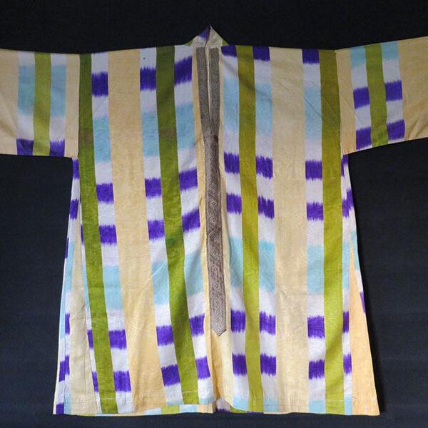 Uzbekistan Bokhara silk adras ikat woman's dress - shirt