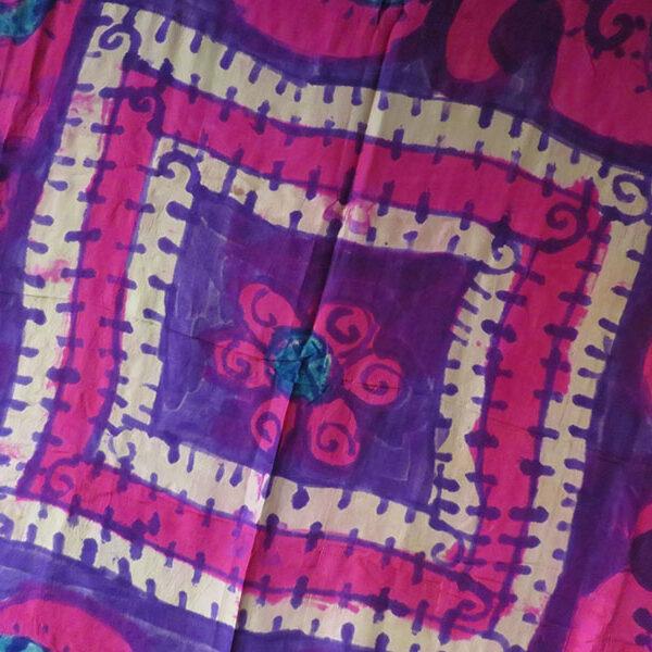 Uzbekistan - Tashkent - hand painted silk textile