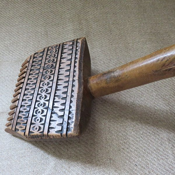 Anatolian Turkmen tribal wooden flat weaving comb