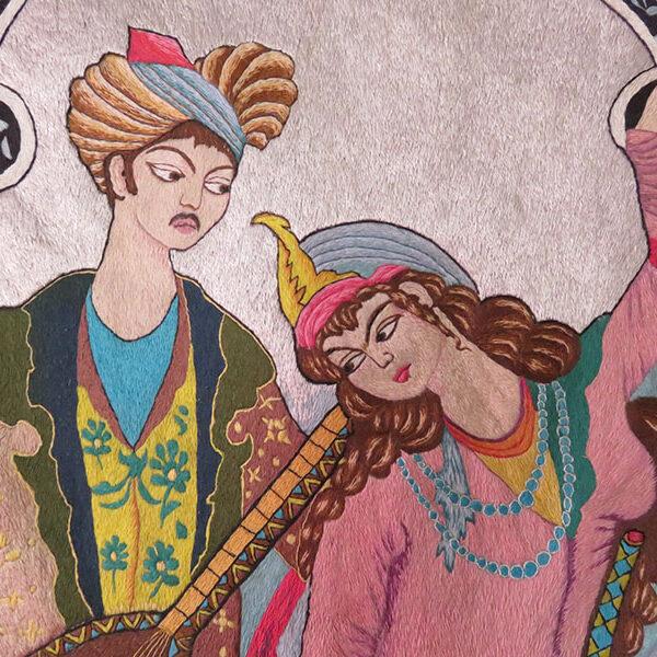 Persian - Azerbaijan silk embroidery - LAYLA & MAJNOON