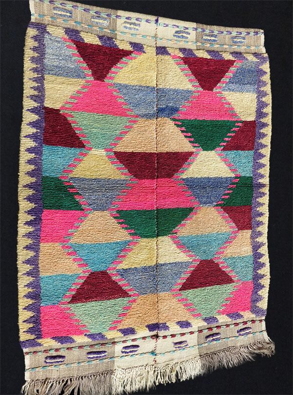 Anatolian Konya Turkmen tulu loop knotted rug